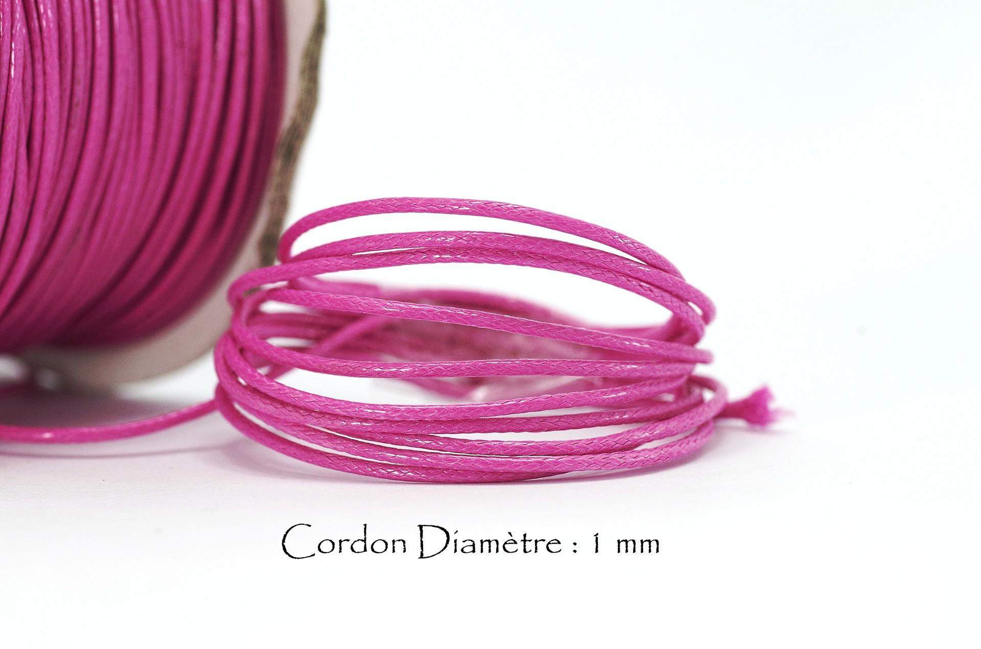 couleur Violet Cordon 3 m Fil en polyester de 1,5 mm