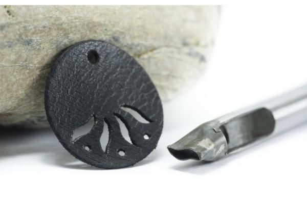 Emporte Pièce à frapper Forme Vague - Poinçon pour percer le cuir ou plastique - Dim. Vague : 8 x 3 mm