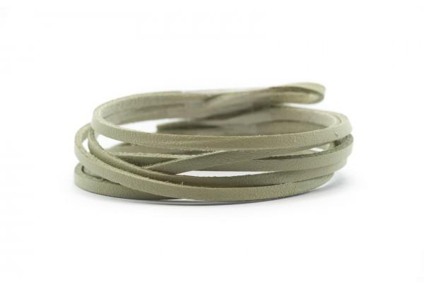 Cordon Suédine Imitation Cuir - Largeur 3 mm (au mètre) - Couleur Beige / Blanc Cassé
