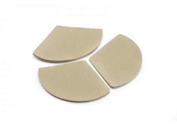 Eventails de cuir Couleur Nude - Dim. 33 x 23 mm - Lot de 6