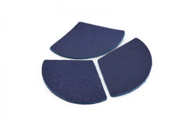 Eventails de cuir Couleur Bleu Roi - Dim. 33 x 23 mm - Lot de 6