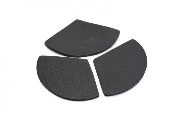 Eventails de cuir Couleur Noir - Dim. 33 x 23 mm - Lot de 6