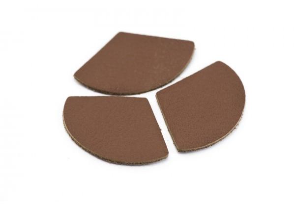 Eventails de cuir Couleur Marron - Dim. 33 x 23 mm - Lot de 6