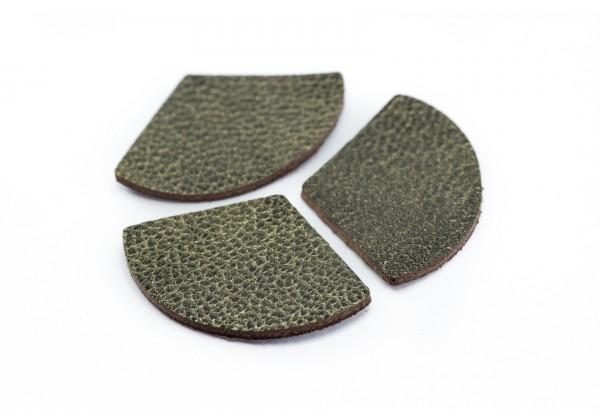 Eventails de cuir Couleur Bronze - Dim. 33 x 23 mm - Lot de 6