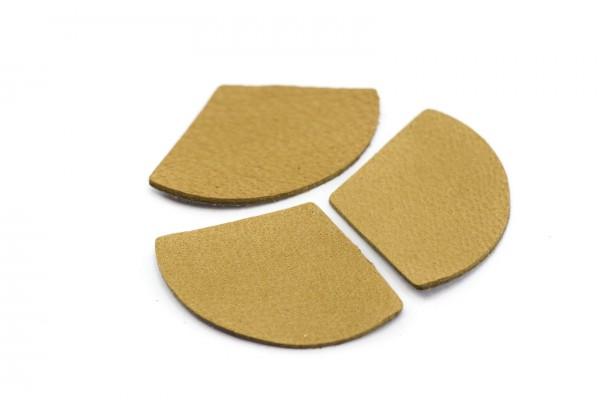 Eventails de cuir Couleur Canelle - Dim. 33 x 23 mm - Lot de 6