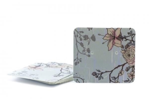 10 Cartons / Présentoir pour bijoux - 5 x 4,5 m - Carton Illustré Fleuri