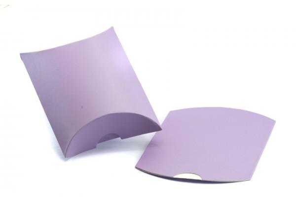 10 Pochettes cadeau Forme Berlingot Cartonnées - 7 x 7 cm - Couleur Rose Mauve