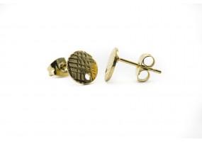 50 Clous Tiges Boucles d/'Oreilles Acier inoxydable Embouts 10x5.5mm