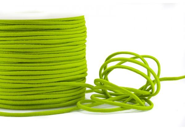 5 Mètres de Fil Cordon Elastique Rond - Diamètre 2 mm - Couleur Vert Pomme