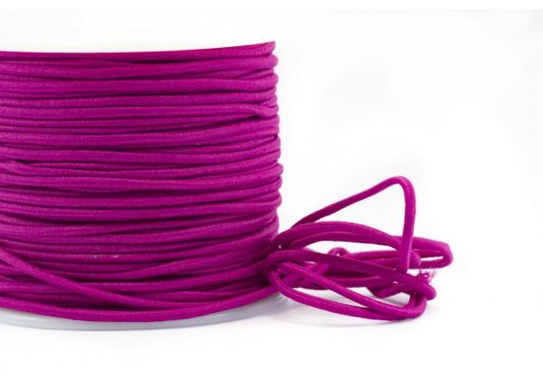 5 Mètres de Fil Cordon Elastique Rond - Diamètre 2 mm - Couleur Rose Mauve