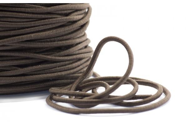 5 Mètres de Fil Cordon Elastique Rond - Diamètre 2 mm - Couleur Marron Brun