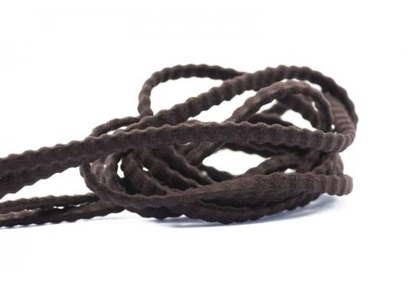 5 Mètres de Fil Cordon Elastique Plat - Largeur : 3,5 mm / Epaisseur : 2 mm - Couleur Marron Brun