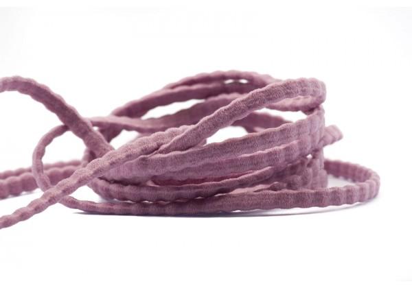 5 Mètres de Fil Cordon Elastique Plat - Largeur : 3,5 mm / Epaisseur : 2 mm - Couleur Rose Pastel