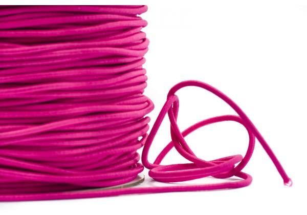 5 Mètres de Fil Cordon Elastique Rond - Diamètre 2 mm - Couleur Rose Fuchsia