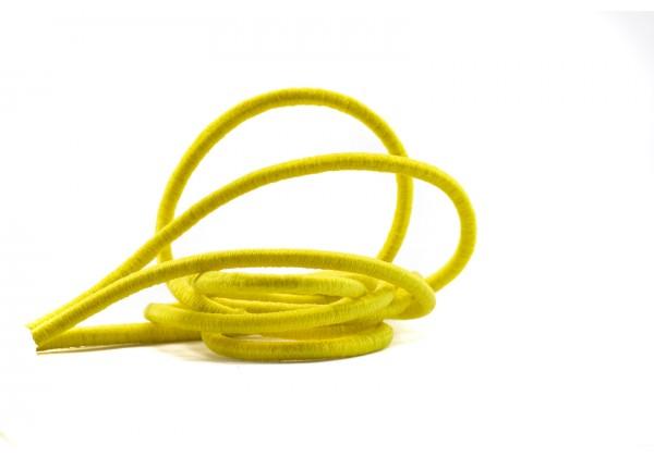 5 Mètres de Fil Cordon Elastique Rond - Diamètre 4 mm - Couleur Jaune
