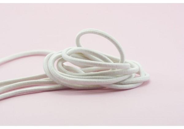 5 Mètres de Fil Cordon Elastique Rond - Diamètre 2.5 mm - Couleur Blanc