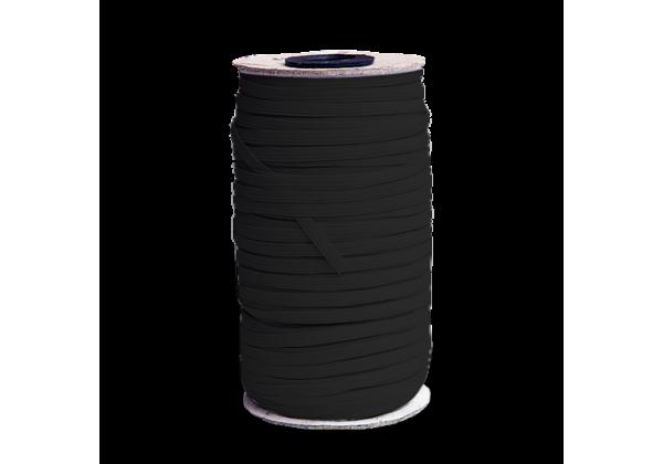 1 Bobine complète de ± 140 Mètres de Cordon Elastique Plat - Largeur : 5 Mm - Elastique pour Masques Noir