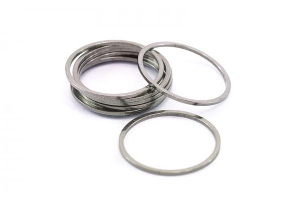 10 Anneaux fermés Connecteurs en Acier Inoxydable - Diam. : 25 mm - Ep. : 1,2 mm - Couleur Argent